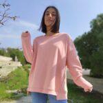 Φούτερ μπορντό ασύμμετρο Μπλούζες Ρούχα αξεσουάρ 2