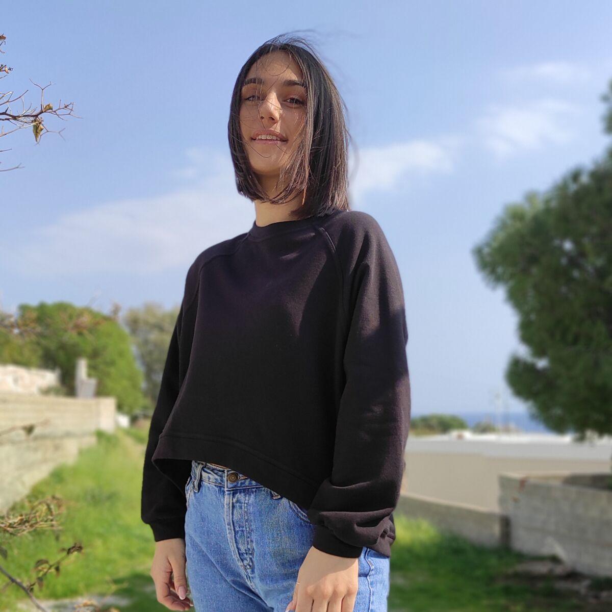 Φούτερ μαύρο Μπλούζες Ρούχα αξεσουάρ