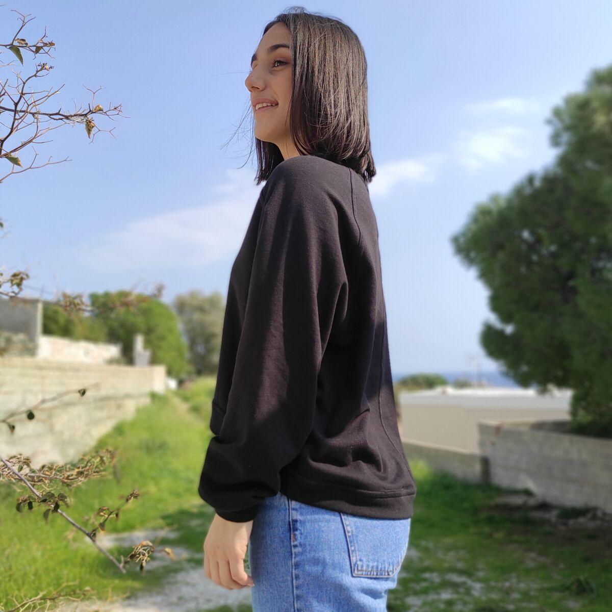 Φούτερ μαύρο Μπλούζες Ρούχα αξεσουάρ 2