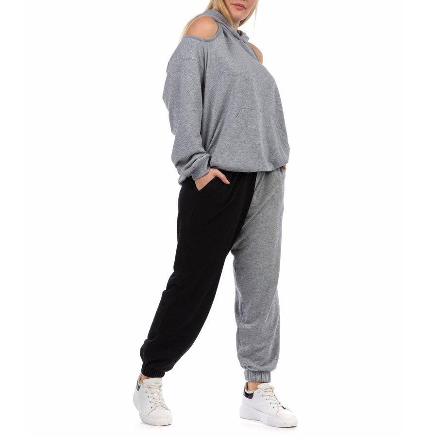Παντελόνι φόρμας δίχρωμο Παντελόνια Plus Size Ρούχα αξεσουάρ 2