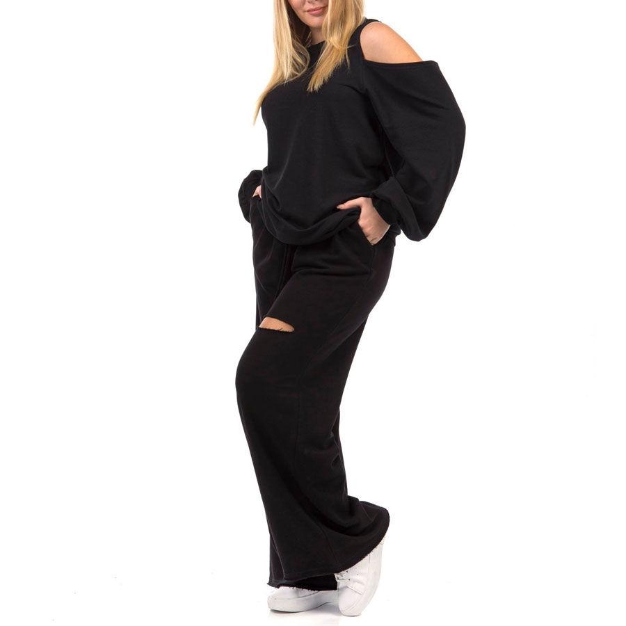 Μπλούζα φούτερ με ένα ώμο Μπλούζες Plus Size Ρούχα αξεσουάρ 2