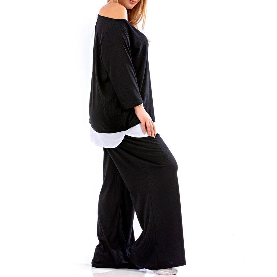 Καθημέρινο μαύρο ρίπ σετ Ρούχα Plus Size Ρούχα αξεσουάρ 2