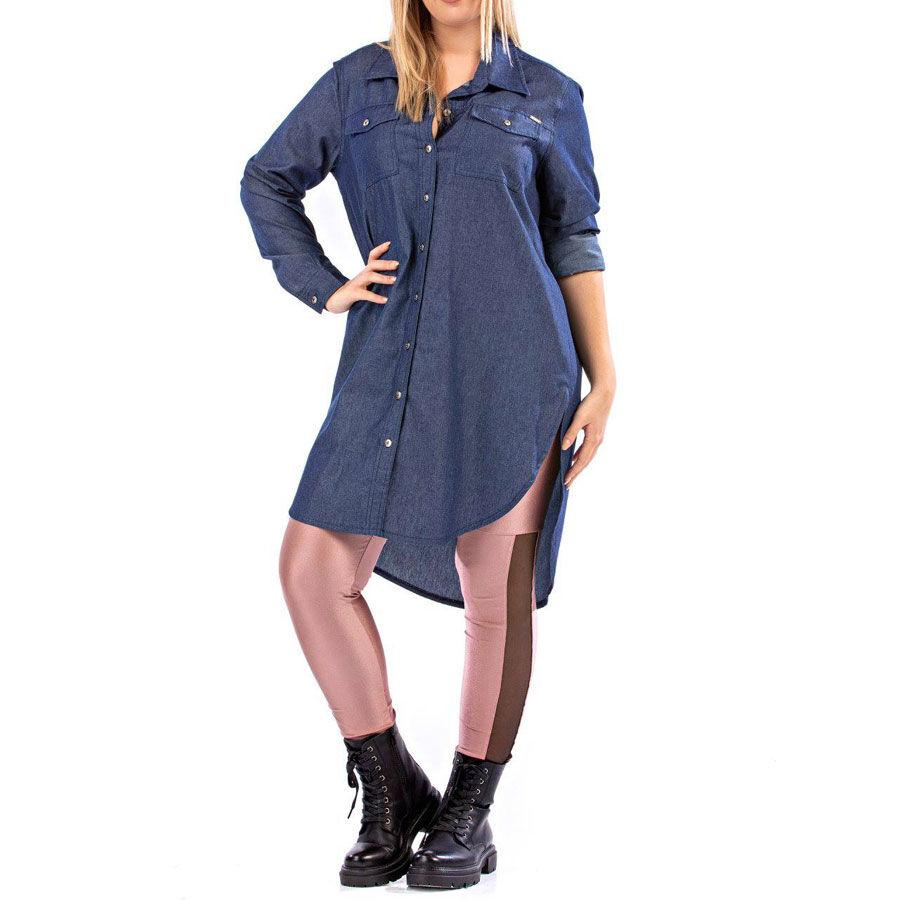 Τζίν πουκαμίσα Πουκάμισα Plus Size Ρούχα αξεσουάρ