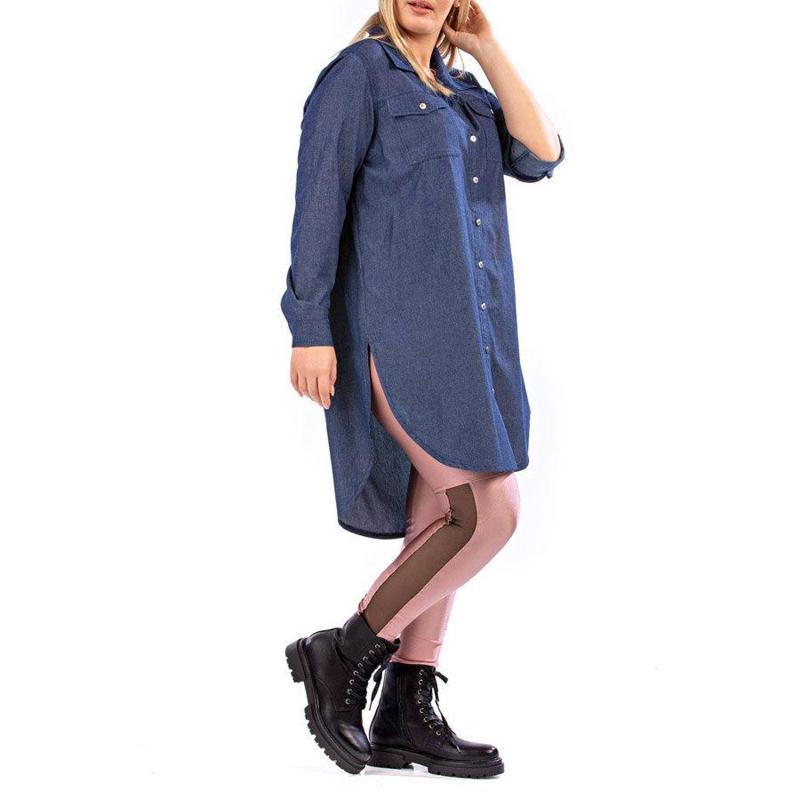 Τζίν πουκαμίσα Πουκάμισα Plus Size Ρούχα αξεσουάρ 2
