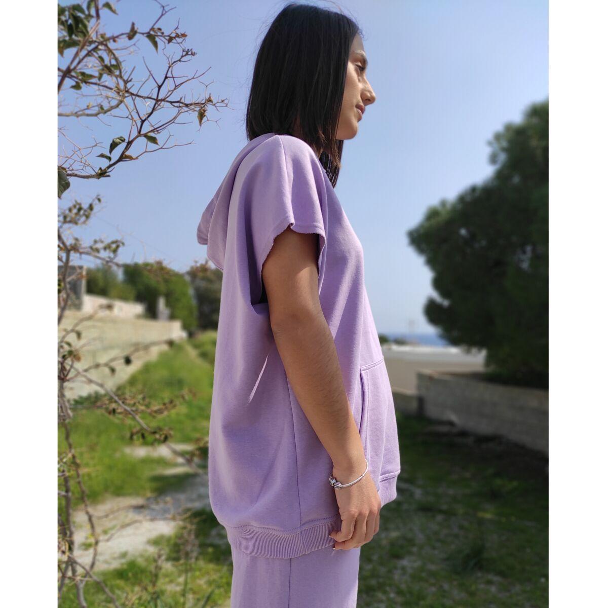Μπλούζα φούτερ μωβ Μπλούζες Ρούχα αξεσουάρ 2