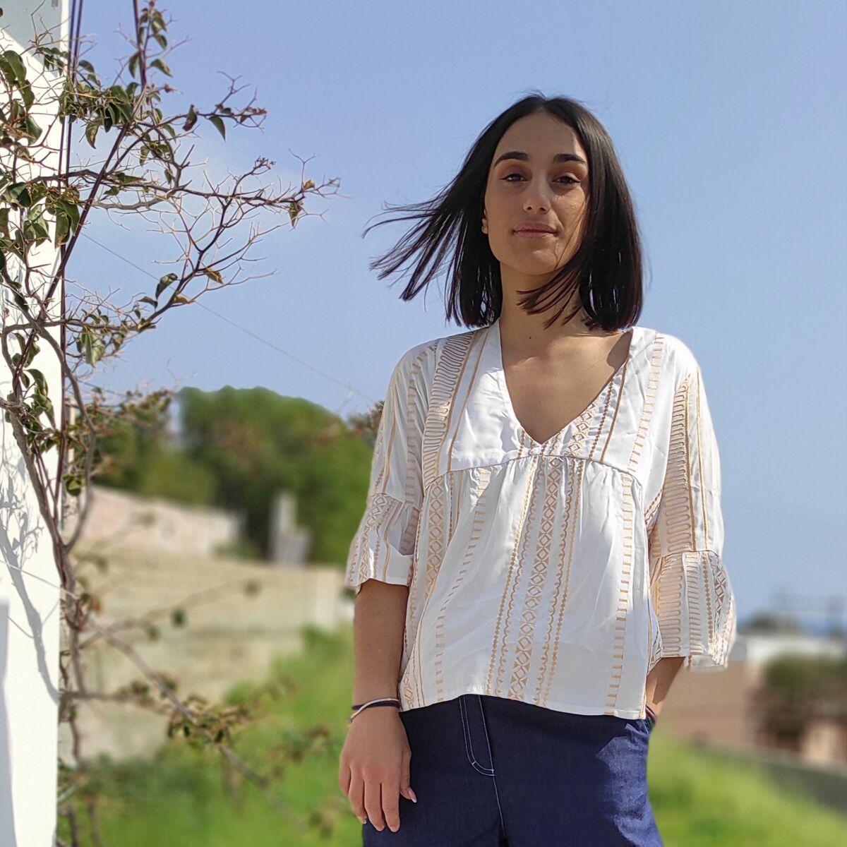 Μπλούζα υφαντή Μπλούζες Ρούχα αξεσουάρ