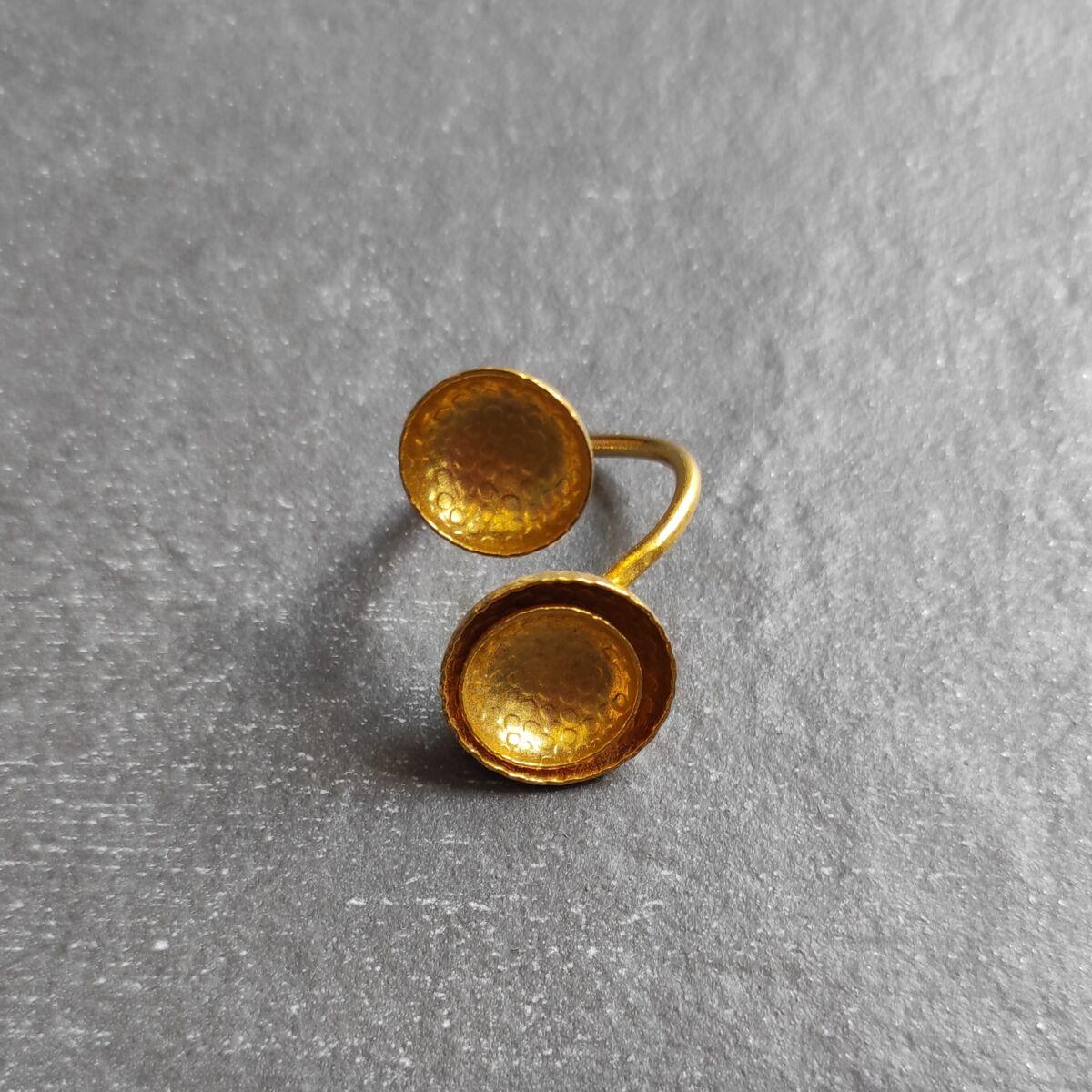 Διπλό χρυσό δαχτυλίδι Αξεσουάρ Ρούχα αξεσουάρ