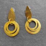 Σκουλαρίκια δάκρυ χρυσά Αξεσουάρ Ρούχα αξεσουάρ 2