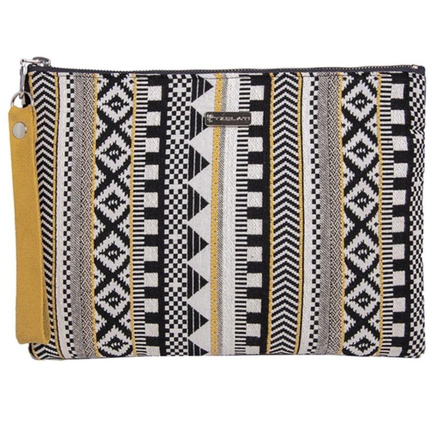 Φάκελος με κίτρινες λεπτομέρειες Τσάντες Ρούχα αξεσουάρ
